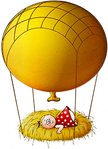 Nestling-Luftballon-Weihnacht